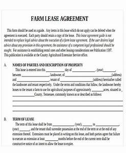 printable lease agreement free premium templates With farm rental agreement template