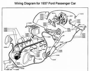 1937 Ford Passenger Car Wiring Diagram