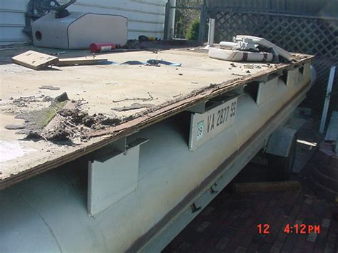 Redecking A Boat by Vagent 1986 Riveria Cruiser 24ft Done Pontoon Forum