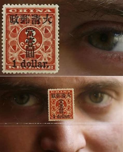 Rare Chinese Stamp Auctioned For Recordbreaking Price Of