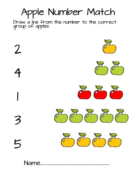 counting apples worksheet  preschool schematic