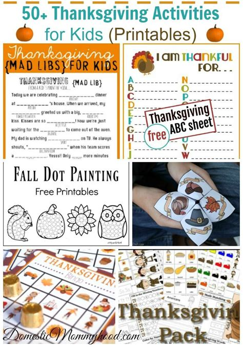 50 thanksgiving activities for kids printables pre k