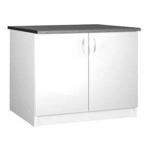 meuble cuisine sous evier 120 cm meuble cuisine bas 120 cm sous évier oxane blanc achat