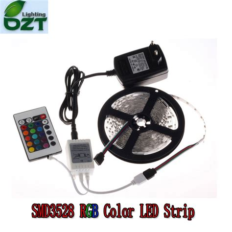 rgb led 5m 300led 3528 smd 24key ir remote