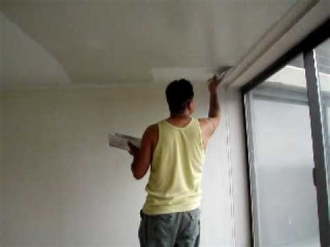 skim coat ceiling  stilt plaster compound part  youtube