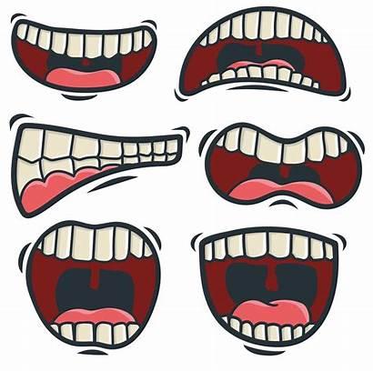 Vector Mouth Cartoon Tongue Vectors Lips Clipart
