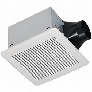 Shop utilitech 03 sone 80 cfm white bathroom fan energy for How many cfm for bathroom fan