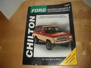 Chilton Ford Ranger Bronco Ii 1983 1990 Repair Manual