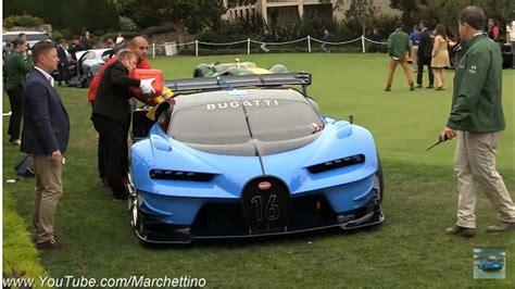 bugatti vision gt concept ran   fuel  pebble beach