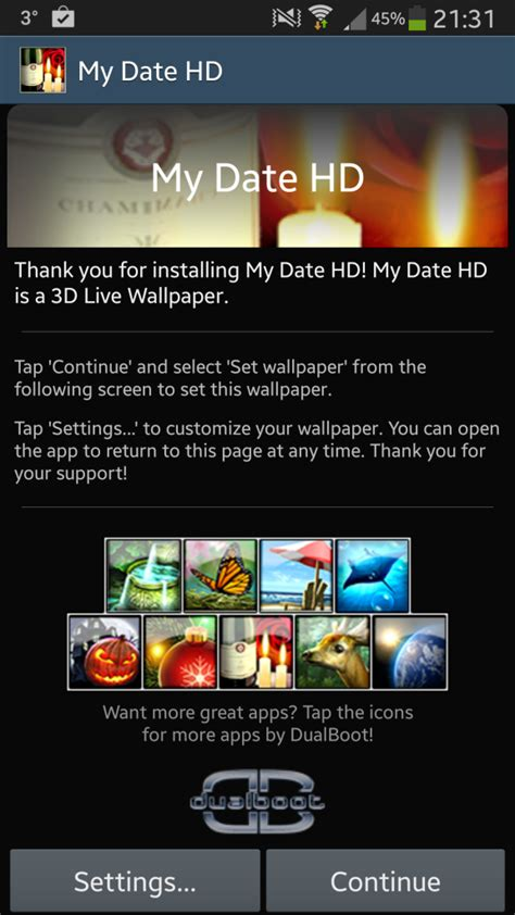 android no live wallpaper option my date hd android app review