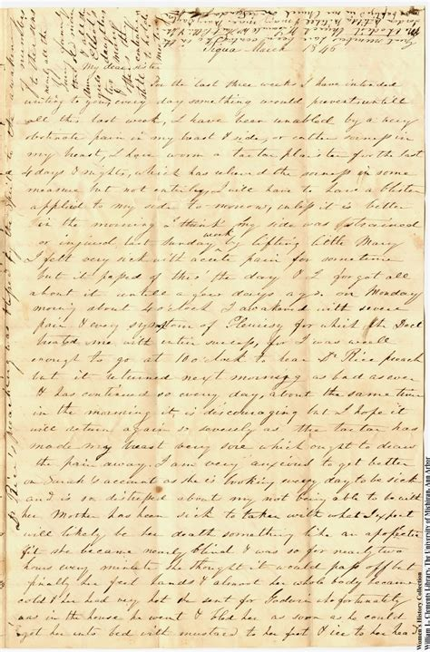 Nancy Letter to Mary Jane McDonald, March 1846 - UM ...