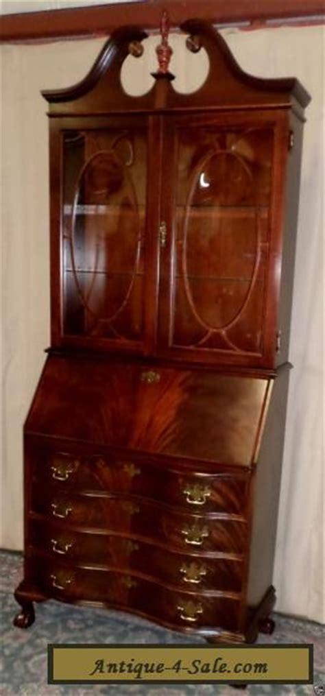 Jasper Cabinet Desk Antique by Jasper Mahogany Desk Lighted Cabinet 809