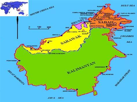 map   island  borneo  scientific diagram