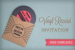 Vinyl record wedding invitation template download print for Diy record wedding invitations