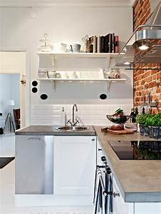 awesome faience cuisine brique blanche pictures design With carrelage pour cuisine blanche