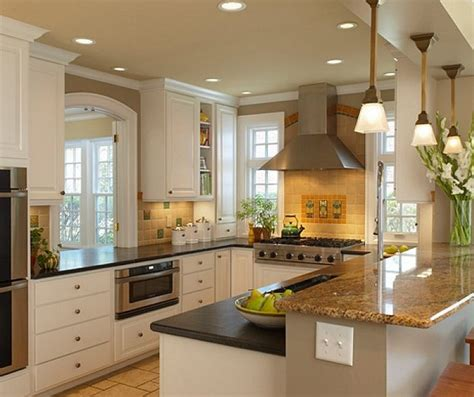 small kitchen lighting ideas for u shaped design with