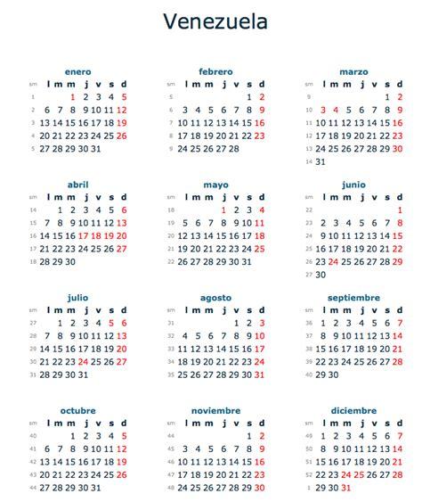 calendario venezuela feriados imagui