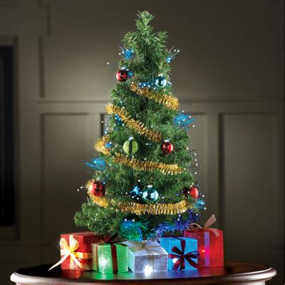 fiber optic tabletop christmas tree from collections etc