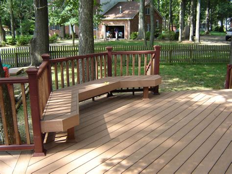 Deck Bench Design by Custom Decks In Virginia Casa Decks