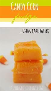 Candy Corn Fudge (Using Cake Batter!)