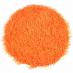 tapis shaggy floky rond orange achat vente tapis With tapis rond orange