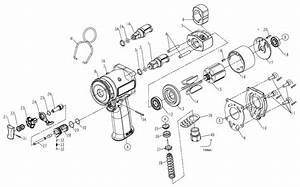 Chicago Pneumatic Cp7732 1  2 U0026quot  Impact Wrench Repair Parts