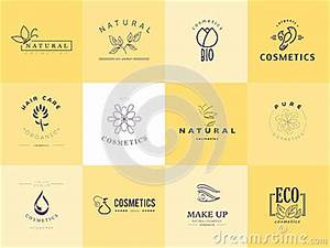 Vector collection of cosmetics logo identity stock vector for Cosmetic label templates