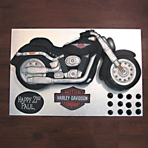 Motorbike Template For Cake by Motorbike Harley Davidson Black Bike That S My Cake