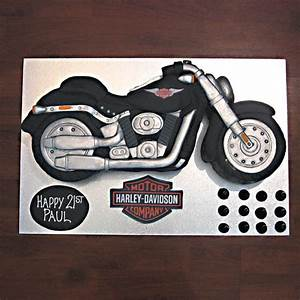 motorbike harley davidson black bike that39s my cake With motorbike template for cake