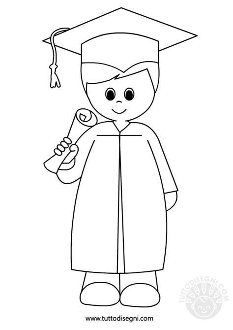 disegni bambini diplomati scuola infanzia bambino con diploma da colorare tuttodisegni