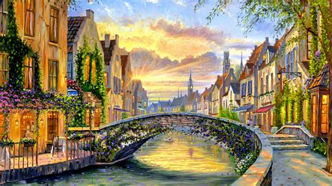 belgian town  spring hd wallpaper background image  id wallpaper abyss