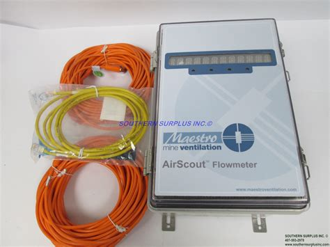 maestro airscout flowmeter monitoring cabinet mining confined quarry  drift