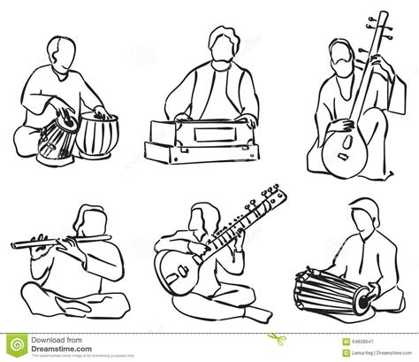 Download musical instruments drawings and use any clip art,coloring,png graphics in your website, document or presentation. Indian musician set stock vector. Illustration of ...