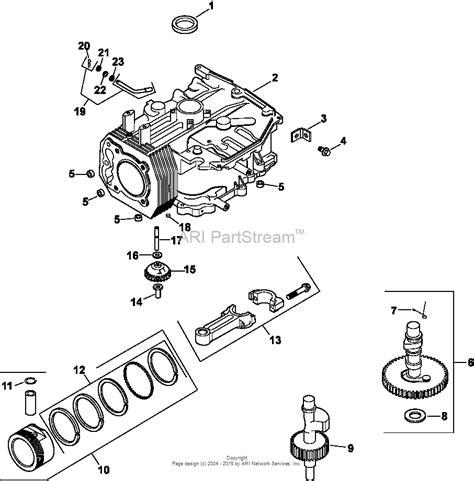 kohler cv  snapper  hp  kw parts diagram