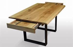 Esstisch Baumkante Ausziehbar : tisch mit baumkante eiche breite 100cm l nge w hlbar ~ Watch28wear.com Haus und Dekorationen
