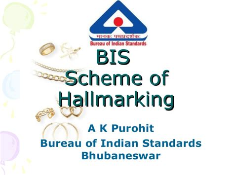 us bureau of standards presentation on bis hallmarking scheme
