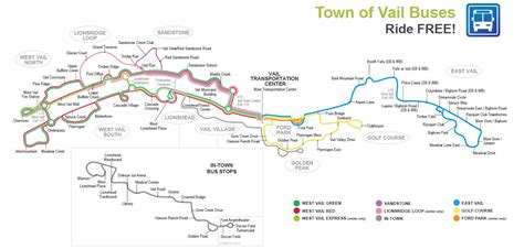 vail bus routes time schedules town  vail