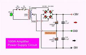 100w Amplifier Circuit With Pcb