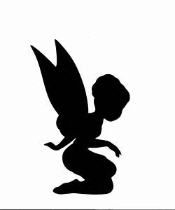 ballerina fairy child silhouette cut for by With fairy cut out template