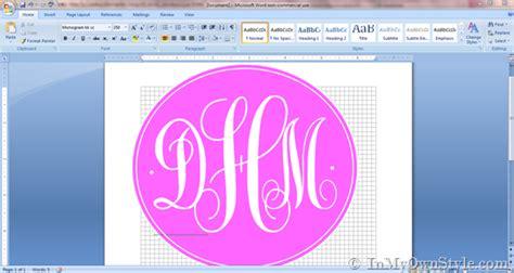 create  monogram  microsoft word    style