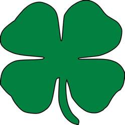 Cartoon Four Leaf Clover Clip Art
