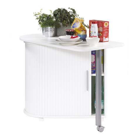 meuble table de cuisine table pivotante et meuble de rangement de cuisine blanc