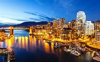 Download wallpapers Vancouver, Canada, evening, bay, 4k ...