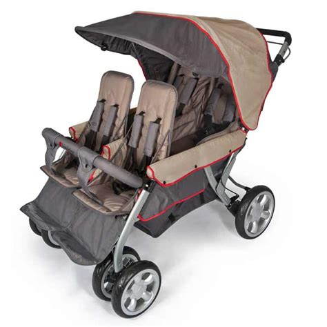 all lx 4 passenger stroller by foundations options 826 | quad lx stroller taupe
