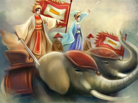 hai ba trung  story  vietnams elephant riding