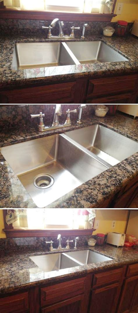 double sink granite countertop the elkay signature double bowl stainless steel sink looks