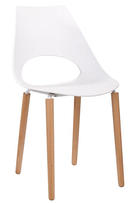chaise en bois blanc chaise design bois massif pvc coloris blanc lot de 6