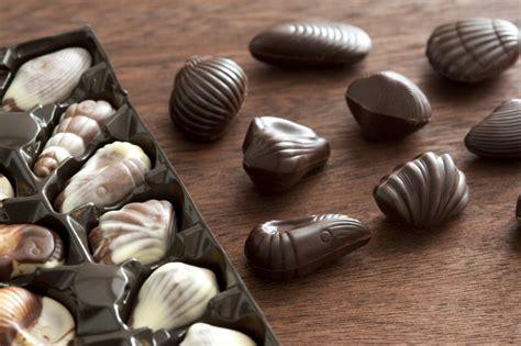 assorted speciality chocolates  stock image