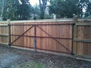 Wood Privacy Fence with Metal Gate Frame