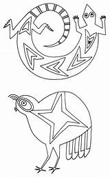 Pottery Native Coloring Mimbres Printable Symbols Drawing Animal Animals Getcolorings Bowls Uploaded User Discover sketch template
